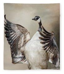 Goose Chase Fleece Blanket
