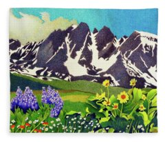 Gore Range Wildflowers Fleece Blanket