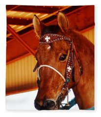 Gorgeous Horse And Bridle Fleece Blanket