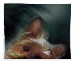 Gorgeous Joy Portrait 2 Fleece Blanket