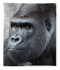 Gorillas In The Mist Fleece Blanket