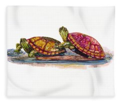 Spring Turtles Fleece Blanket
