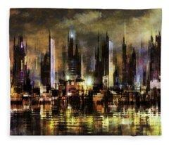 Gotham City IIi Fleece Blanket