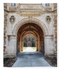 Gothic Archway Photography Fleece Blanket
