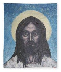 Gothic Jesus Fleece Blanket