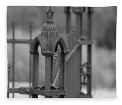 Gothic Ornamental Fence In Boothill Fleece Blanket