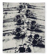 Gothic Skull Pins Fleece Blanket