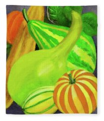 Gourds Purple No Lettering Fleece Blanket