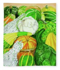 Gourds Seed Packet No Lettering Fleece Blanket