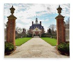 Governor's Palace In Williamsburg, Virginia Fleece Blanket