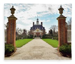 Governor's Palace In Williamsburg, Virginia Fleece Blanket