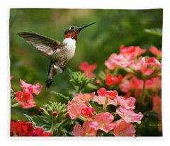 Graceful Garden Jewel Fleece Blanket