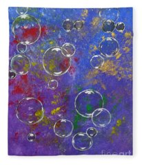 Graffiti Bubbles Fleece Blanket