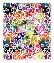 Graffiti Garden 2- Art By Linda Woods Fleece Blanket