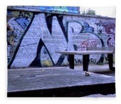 Graffiti Table Fleece Blanket