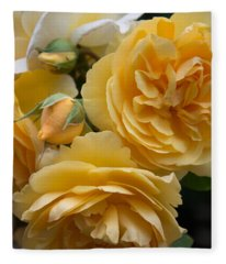Fleece Blanket featuring the photograph Graham Thomas Rose by Jocelyn Friis