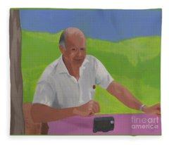 Grampa Wiegand Fleece Blanket