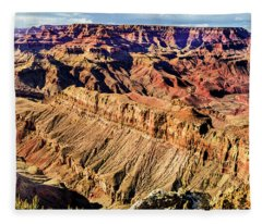 Grand Canyon Afternoon At Lipan Point Fleece Blanket
