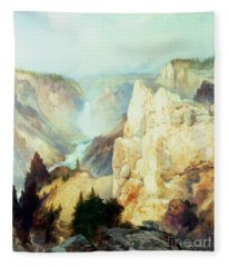 Grand Canyon Of The Yellowstone Park Fleece Blanket