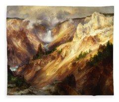 Grand Canyon Of The Yellowstone Fleece Blanket