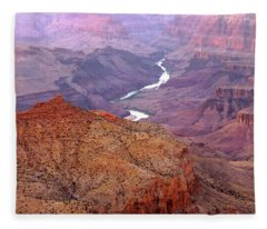 Grand Canyon River View Fleece Blanket
