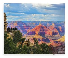 Grand Canyon South Rim View Fleece Blanket