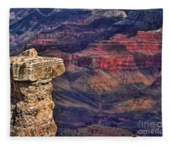 Grand Canyon Stacked Rock Fleece Blanket