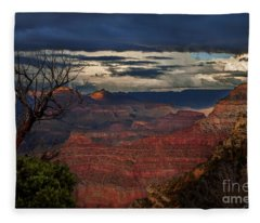 Grand Canyon Storm Clouds Fleece Blanket