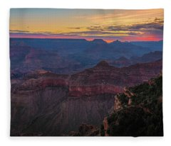 Grand Canyon Sunrise Fleece Blanket