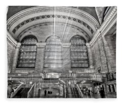 Grand Central Terminal Station Fleece Blanket