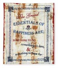 Grand Essentials Of Happiness Fleece Blanket