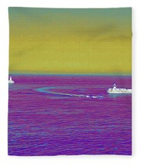 Purple Sea Fleece Blanket