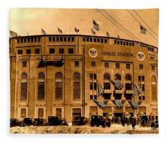Grand Opening Of Old Yankee Stadium April 18 1923 Fleece Blanket