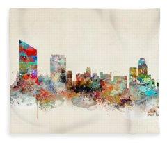 Grand Rapids Skyline Fleece Blanket