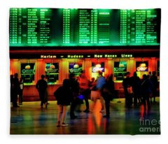 Grand Central Station Nyc Fleece Blanket