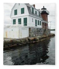 Grandfathers Lighthouse Fleece Blanket
