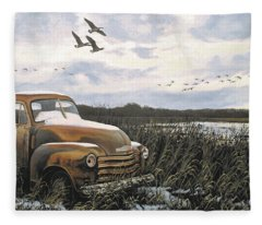 Grandpa's Old Truck Fleece Blanket
