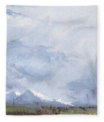 Grantsville Skies Fleece Blanket