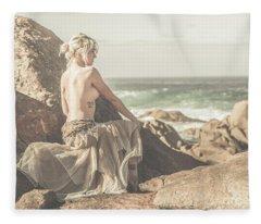 Granville Harbour Tasmania Fine Art Beauty Portrait Fleece Blanket