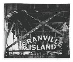 Granville Island Bridge Black And White- By Linda Woods Fleece Blanket
