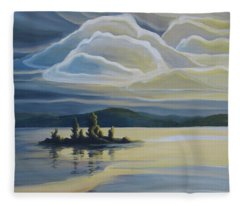 Grape Island Fleece Blanket