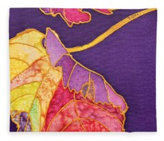 Grape Leaves Fleece Blanket