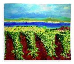 Grape One Orchard Fleece Blanket