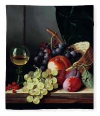 Grapes And Plums Fleece Blanket