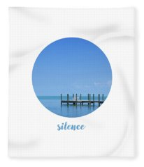 Graphic Art Silence - Oceanview Fleece Blanket