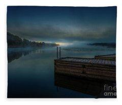 Grass Creek Sunrise 1 Fleece Blanket
