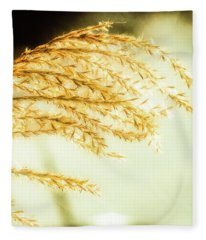 Grasses Of Gold Fleece Blanket