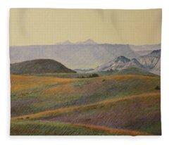Grasslands Badlands Panel 2 Fleece Blanket