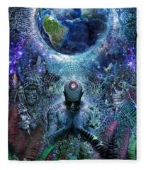 Gratitude For The Earth And Sky Fleece Blanket