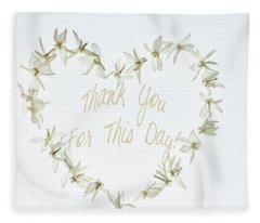 Gratitude Fleece Blanket